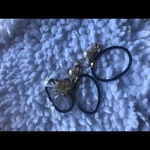 Accessories - Lot pearl hair ties ponytail scrunchies women kids